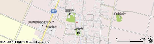 山形県寒河江市日田517周辺の地図