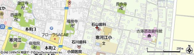山形県寒河江市丸内周辺の地図