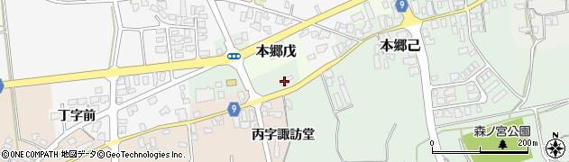 山形県西村山郡大江町本郷己305周辺の地図