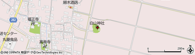 山形県寒河江市日田楯越37周辺の地図