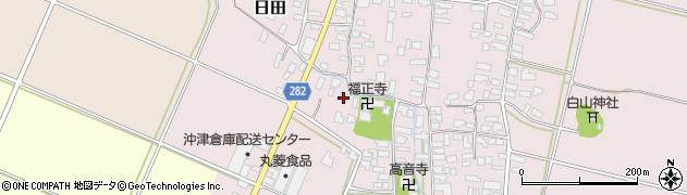 山形県寒河江市日田504周辺の地図