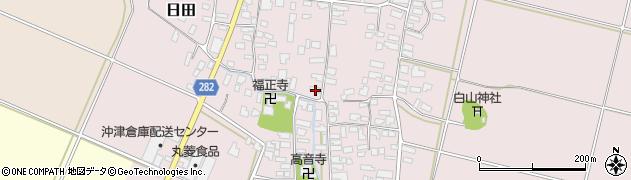山形県寒河江市日田316周辺の地図