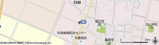 山形県寒河江市日田弓貝21周辺の地図
