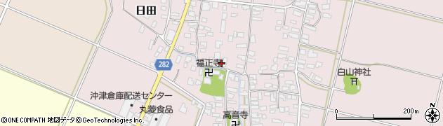 山形県寒河江市日田314周辺の地図