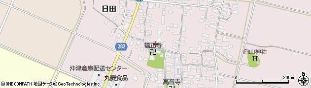 山形県寒河江市日田312周辺の地図