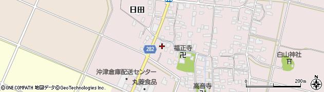 山形県寒河江市日田501周辺の地図
