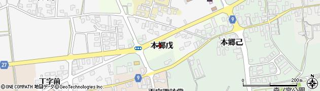 山形県西村山郡大江町本郷丁266周辺の地図