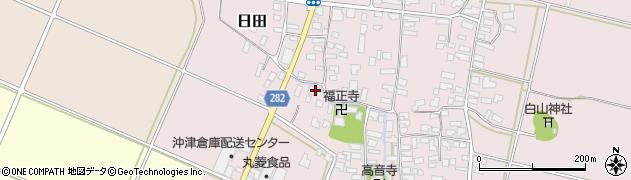 山形県寒河江市日田502周辺の地図