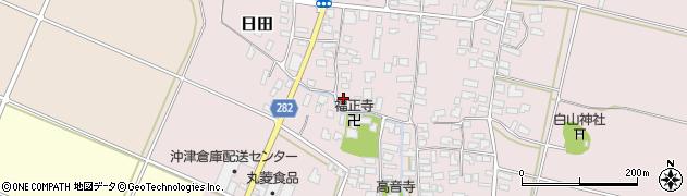 山形県寒河江市日田310周辺の地図