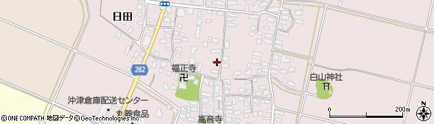 山形県寒河江市日田317周辺の地図