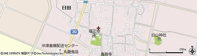 山形県寒河江市日田308周辺の地図