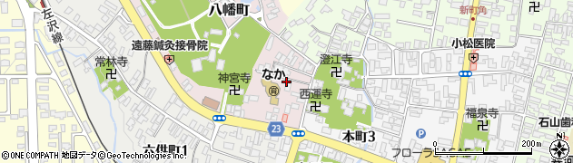 山形県寒河江市八幡町周辺の地図