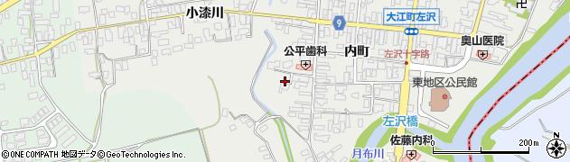 山形県西村山郡大江町左沢553周辺の地図