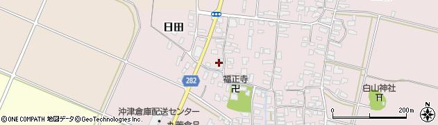 山形県寒河江市日田304周辺の地図