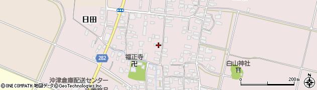 山形県寒河江市日田318周辺の地図