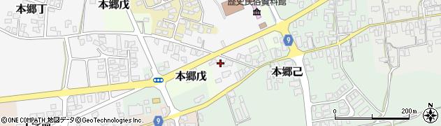 山形県西村山郡大江町本郷丁3周辺の地図