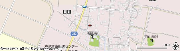 山形県寒河江市日田448周辺の地図