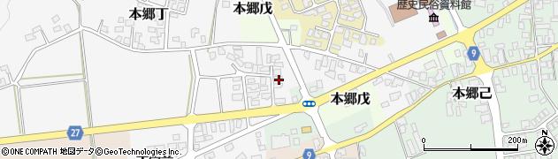 山形県西村山郡大江町本郷丁25周辺の地図