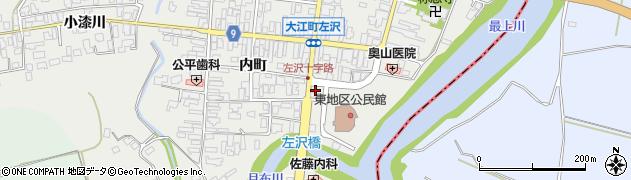 山形県西村山郡大江町左沢201周辺の地図