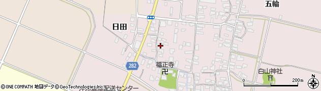 山形県寒河江市日田131周辺の地図