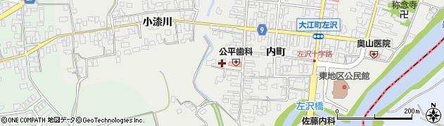 山形県西村山郡大江町左沢551周辺の地図