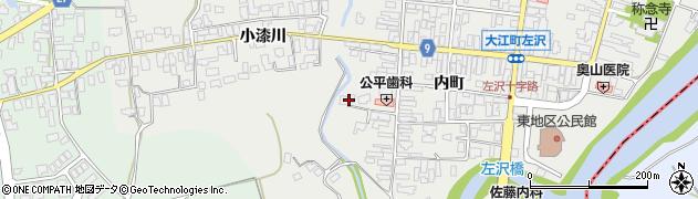 山形県西村山郡大江町左沢525周辺の地図