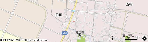 山形県寒河江市日田301周辺の地図