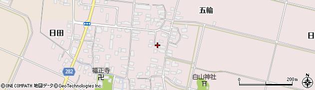 山形県寒河江市日田329周辺の地図
