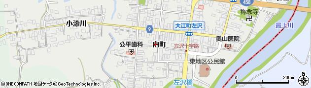 山形県西村山郡大江町左沢907周辺の地図