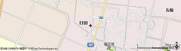 山形県寒河江市日田後田103周辺の地図