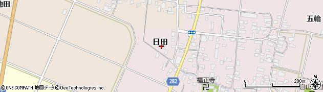 山形県寒河江市日田110周辺の地図
