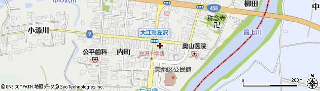 山形県西村山郡大江町左沢横町周辺の地図