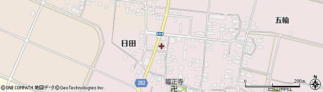 山形県寒河江市日田後田123周辺の地図