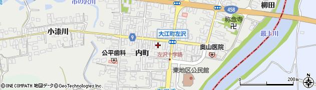 山形県西村山郡大江町左沢周辺の地図