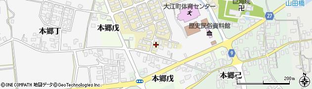 山形県西村山郡大江町原田13周辺の地図