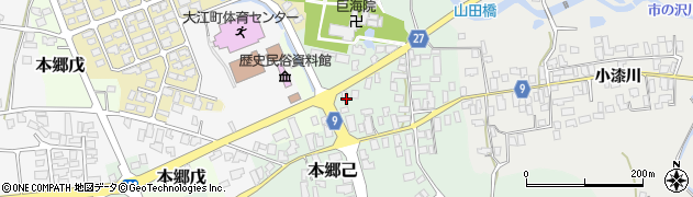 山形県西村山郡大江町本郷己38周辺の地図