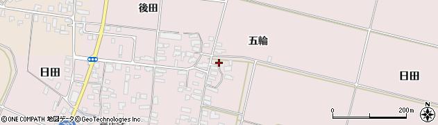 山形県寒河江市日田五輪186周辺の地図