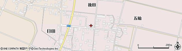 山形県寒河江市日田後田141周辺の地図