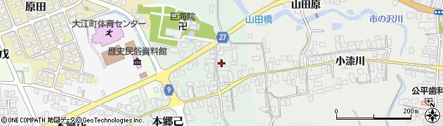 山形県西村山郡大江町本郷己14周辺の地図