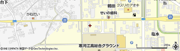 山形県寒河江市寒河江鷹の巣8周辺の地図