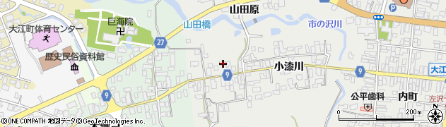 山形県西村山郡大江町左沢690周辺の地図