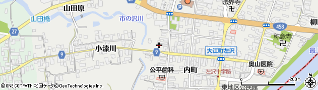山形県西村山郡大江町左沢517周辺の地図