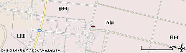 山形県寒河江市日田五輪190周辺の地図