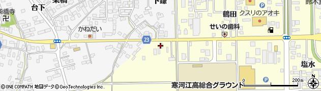 山形県寒河江市寒河江鷹の巣4周辺の地図