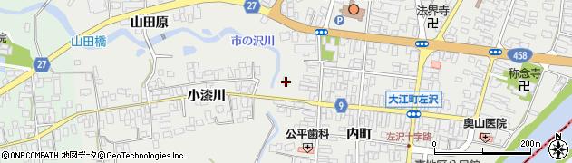 山形県西村山郡大江町左沢537周辺の地図