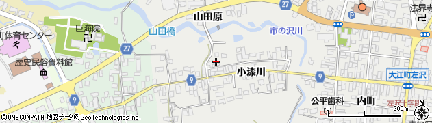 山形県西村山郡大江町左沢704周辺の地図