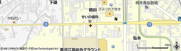 山形県寒河江市寒河江鷹の巣15周辺の地図