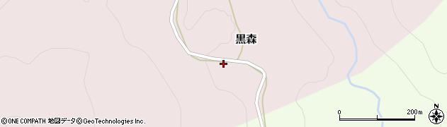 山形県西村山郡大江町黒森43周辺の地図