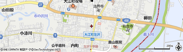 山形県西村山郡大江町左沢448周辺の地図