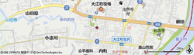 山形県西村山郡大江町左沢524周辺の地図